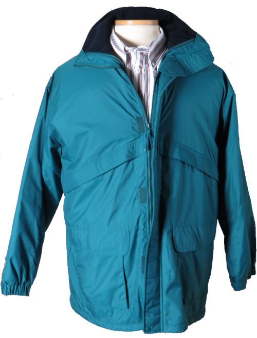 King Size Teal Waterproof Winter Jacket 2X