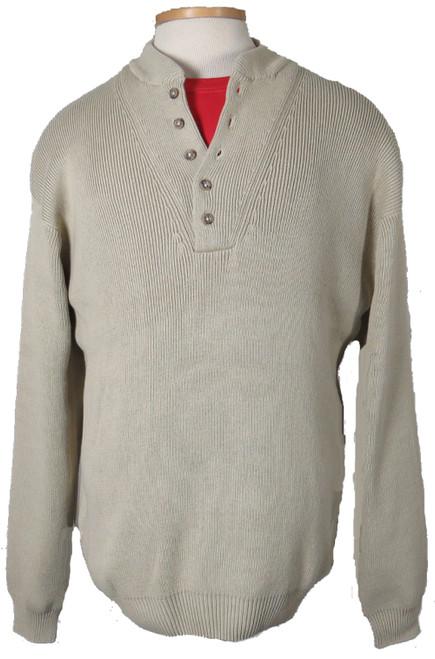 Basic Options 5 Button Pullover Camel Sweater XLT, 3XT