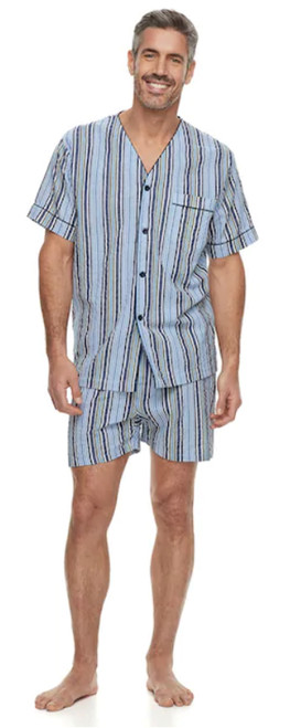 Residence Striped Pajama Set w/ Shorts 3XT, 4X