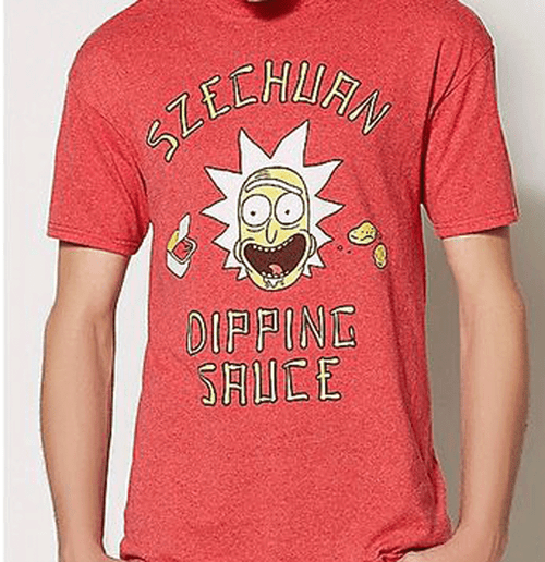 Ripple Junction Rick and Morty Szechuan Sauce Tee 2XT, 4X, 4XT, 5X, 5XT