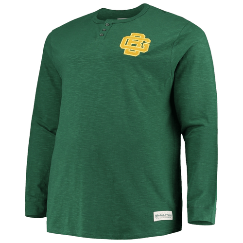 Mitchell & Ness Green Bay Packers First Round Pick Long Sleeve Green Henley T-Shirt 3X