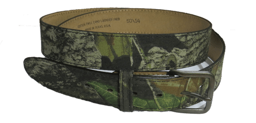Camo Bonded Leather Belt Waist Sizes 46, 48, 50-54