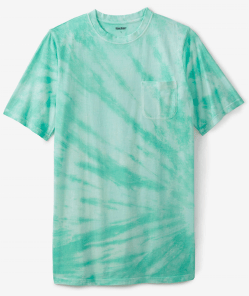 Large and In Charge Lightweight Mint Tie Dye Tee 5X, 6X, 7X, 8X