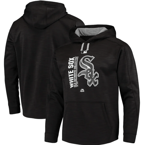Majestic Chicago White Sox Space Dyed Pullover Hoodie 3X, 4X, 5X