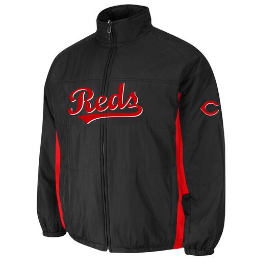 Majestic Cincinnati Reds Double On-Field Jacket 4X, 5X
