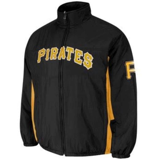 Majestic Pittsburgh Pirates Double On-Field Jacket 3X, 4X, 5X, 6X