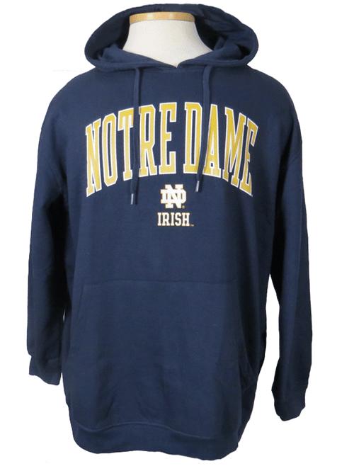 Fanatics Notre Dame Navy Pullover Hoodie 3X, 4X, 5X