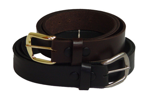 Marc Wolf 202 Leather Belt Black or Brown 34-80