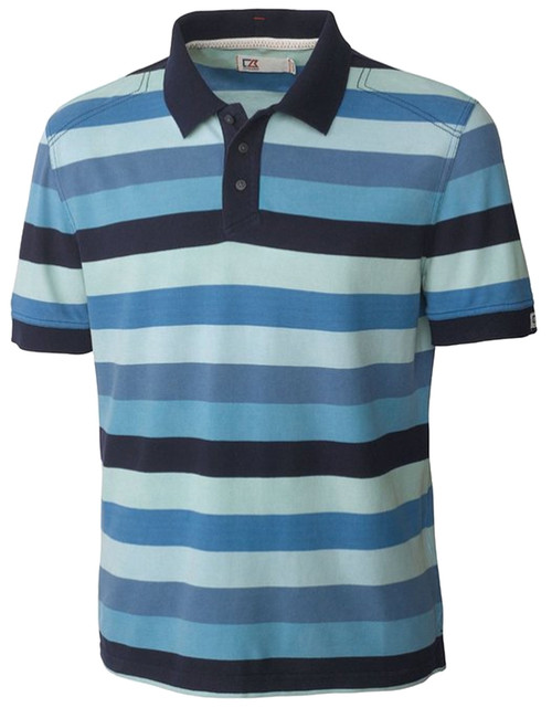 Cutter Amp Buck Edmonds Stripe Polo 2x 2xt 3x 3xt 4x 4xt