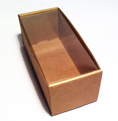 Kraft Display Box with Clear Cover