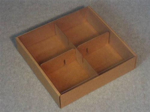 Kraft Soap Display Box - Square w Clear Cover