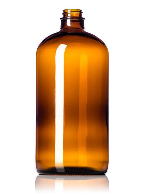 32 oz. Amber Glass Boston Round