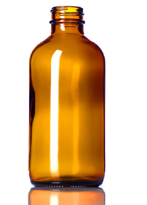 8 oz. Amber Glass Boston Round