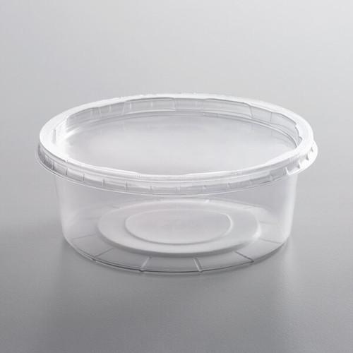 8 oz. Translucent Plastic Deli Container with Lid