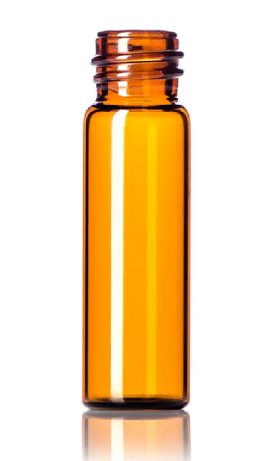 1 Dram Amber Glass Vial