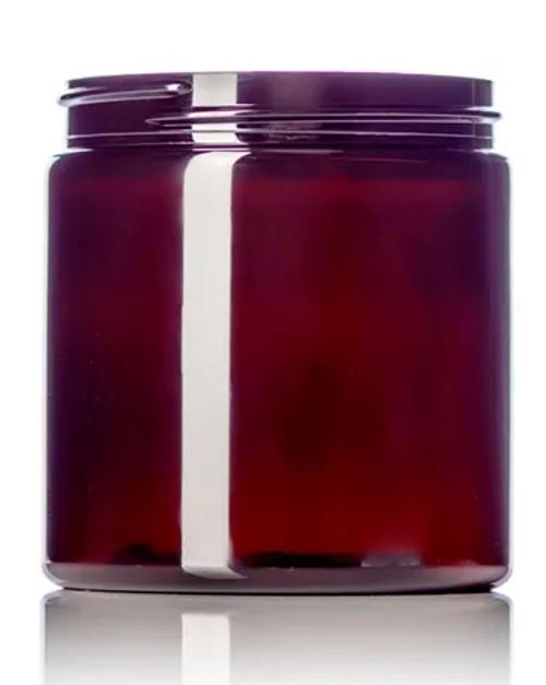 8 oz. PET Jar - Amber - 70-400