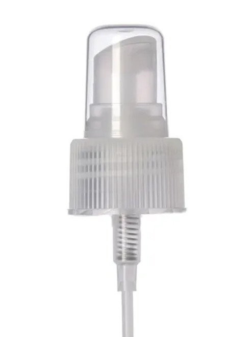 24-410 Natural Ribbed Fine Mist Sprayer