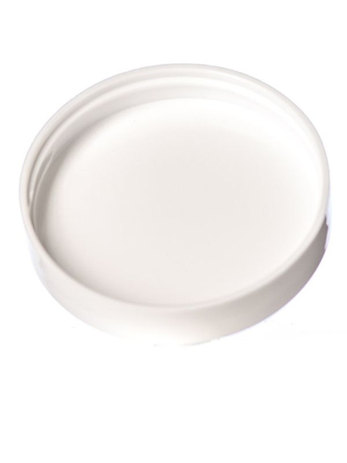 89 mm White Smooth Lid