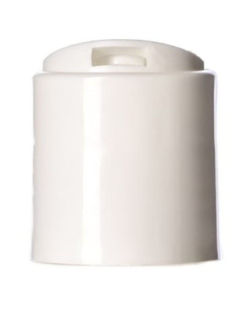 White disc top caps 24-410