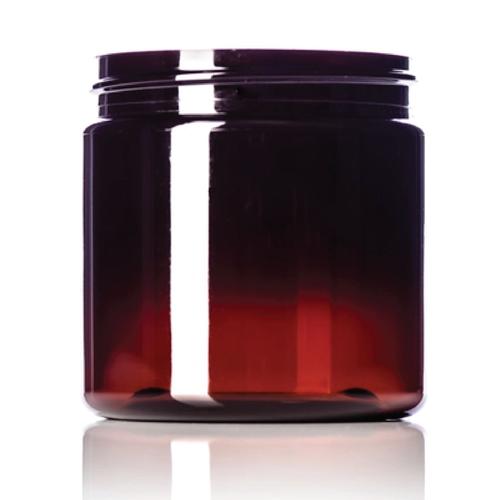 4 oz 58 mm Amber PET Jar