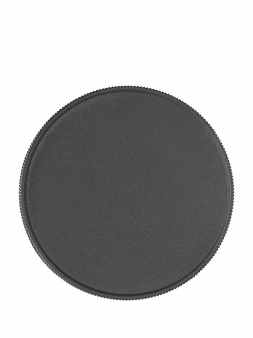 70 mm Black Ribbed Lid with foam liner