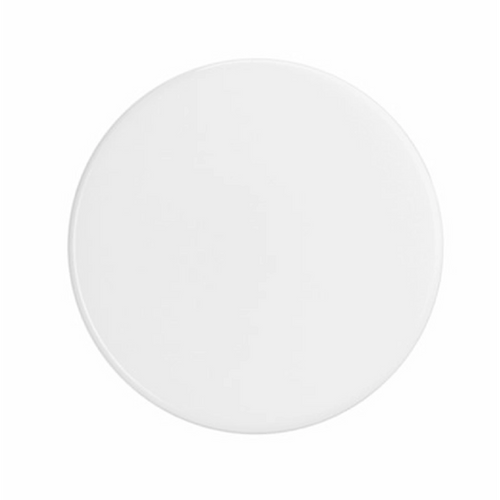 33-400 White PP Smooth Lid  33 mm lid
