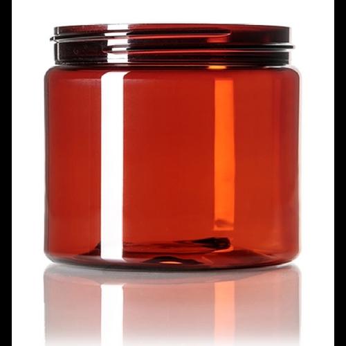 16 oz. PET Jar - Amber - 89-400