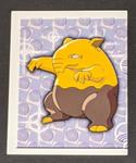 Drowzee Pokemon Sticker - 1999 - Merlin