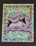 Muk Holo Pokemon Sticker - 1999 - Merlin