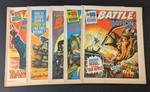 Battle-Action Bundle - x5 Randomly Selected Battle-Action Comics From 1975-1988 - IPC Magazines