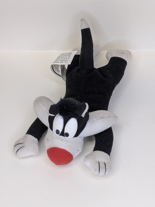 Looney Tunes Sylvester Beanie Plushie/Soft Toy - 2000 - Play By Play - GD
