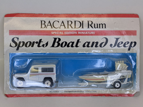 Bacardi Rum Sports Boat & Jeep Special Edition Miniatures - 1991 - Matchbox - New/Sealed
