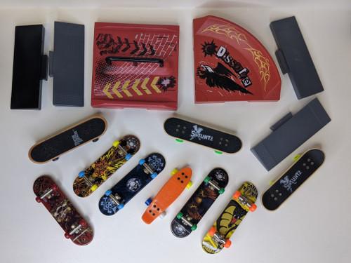 Stuntz/Tech Deck Mini Skateboards and Ramps Bundle - 2000's - Stuntz/Tech Deck - VG