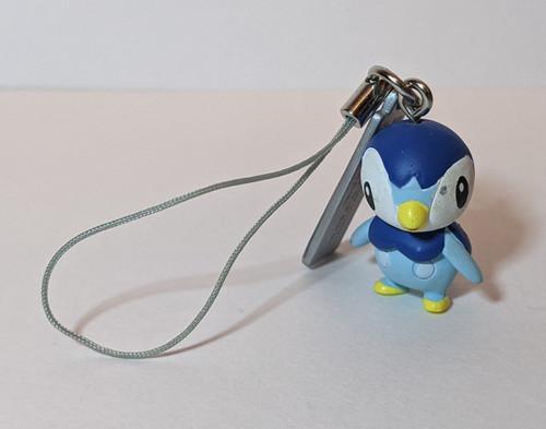 Pokemon Piplup Keyring - 2006 - Tomy - GD