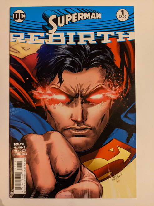 Superman: Rebirth Volume 1 #1 - Mendoza Variant Cover - 2016 - DC Comics - NM