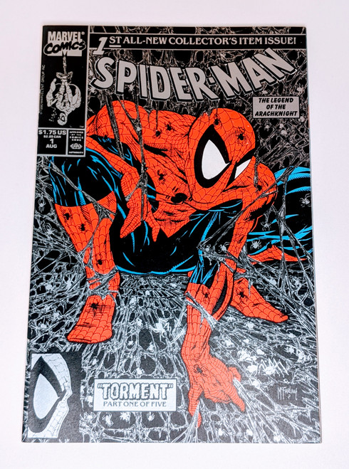 Spider-Man #1 - Silver Cover Variant - 1990 - Marvel Comic - FN