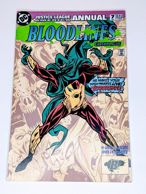 Bloodlines: Earthplague Justice League Annual #7 - 1993 - DC Comic - FN