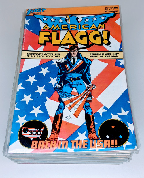 American Flagg Full Collection #1-#50 - 1984 - First Comics - VG