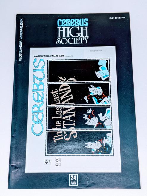 Cerebus: High Society #23 - 1991 - Aadvark-Vanheim Comic - VG