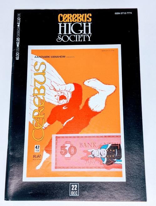 Cerebus: High Society #22 - 1990 - Aadvark-Vanheim Comic - VG