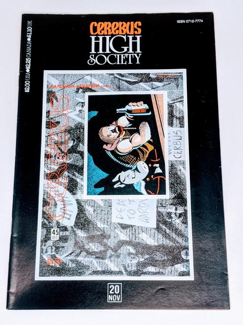Cerebus: High Society #20 - 1990 - Aadvark-Vanheim Comic - VG