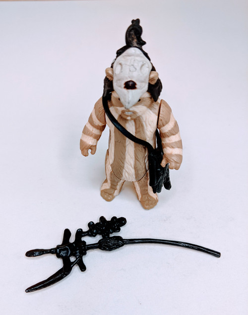 Star Wars: Return Of The Jedi Logray With Hood, Satchel & Weapon - 1983 - Kenner - VG