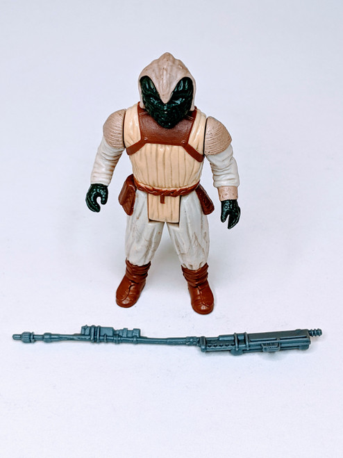 Star Wars: Return Of The Jedi Klaatu Skiff Guard Outfit Figure With Weapon - 1983 - Kenner - GD