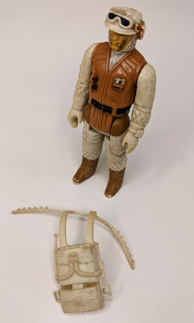Star Wars: The Empire Strikes Back Hoth Rebel Soldier Figure With Backpack- 1981 - Kenner - FR
