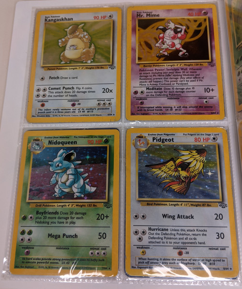 Pokemon Trading Card Game Jungle Set Full Collection - 1999 - Wizards Of The Coast