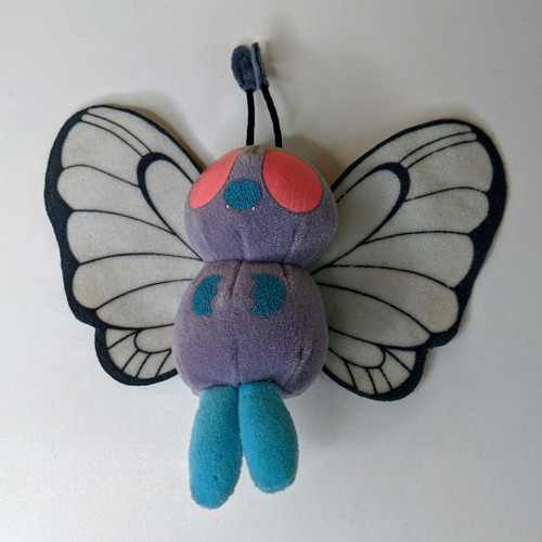 Pokemon Butterfree Beanie Plushie - 1999 - Hasbro - VG