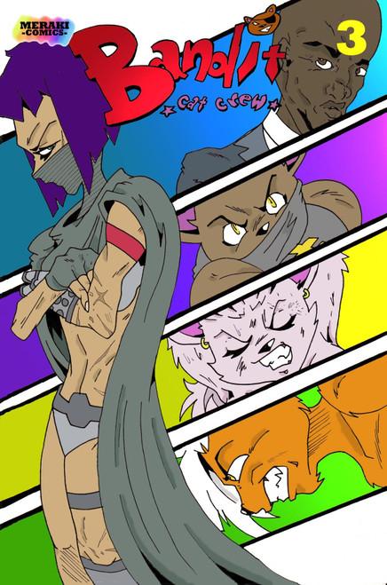 Bandit Cat Crew #3 - Meraki Comics - Thomas Wilson