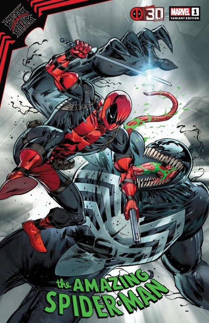 King In Black: The Amazing Spider-Man #1 - Liefeld Deadpool 30th Anniversary Variant -2021 - Marvel Comic