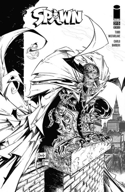 Spawn #315 -D Capullo & Mcfarlane B&W Variant - 2021 - Image Comic