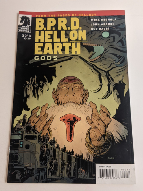 BPRD Hell On Earth - Gods - #2 - 2011 - Dark Horse Comic - VG